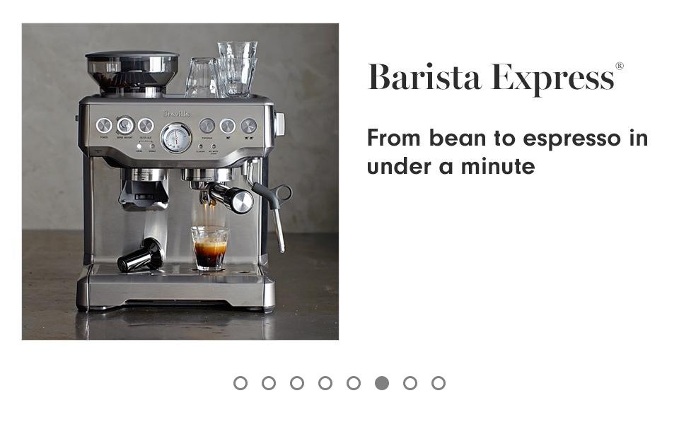 Breville Barista Express Espresso Machine Williams Sonoma