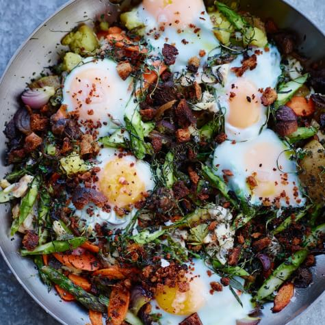 Smoked Trout And Vegetable Hash With Eggs Williams Sonoma