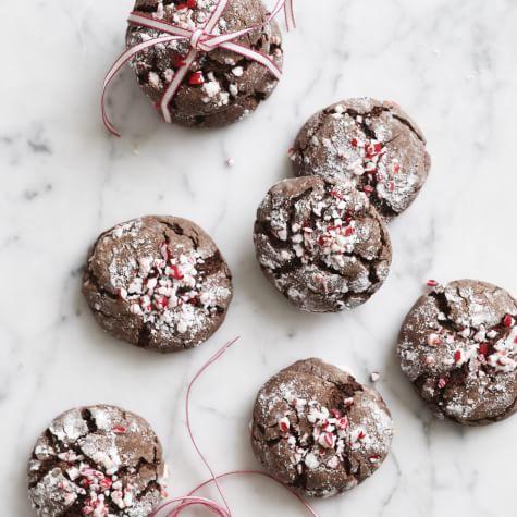 Chocolate Peppermint Crinkles | Recipe via William Sonoma