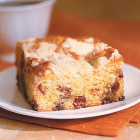 Cranberry Sour Cream Coffee Cake With Streusel Topping Williams Sonoma