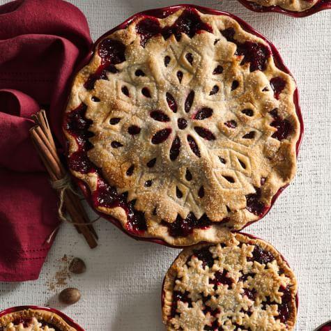 Pyrex Smoke Cranberry Pie Baking Dish