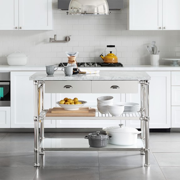 Modular Kitchen Island With Marble Top Williams Sonoma