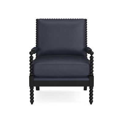 Spindle Leather Chair Williams Sonoma