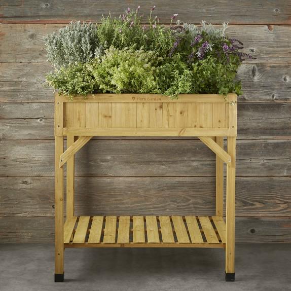 Vegtrug Herb Raised Garden Bed Natural Williams Sonoma