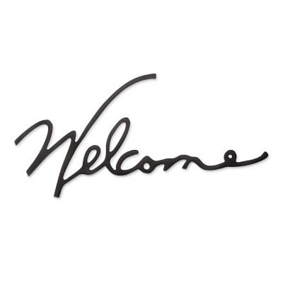 Welcome Wire Wall Art Williams Sonoma