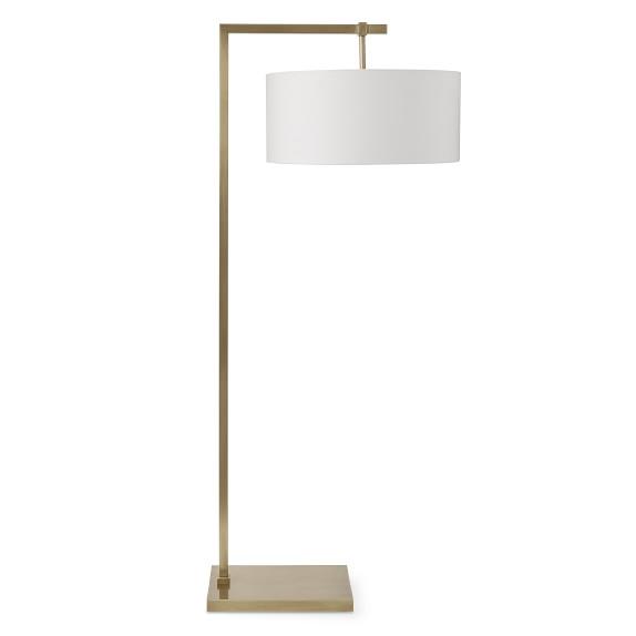 York Floor Lamp Antique Brass Williams Sonoma