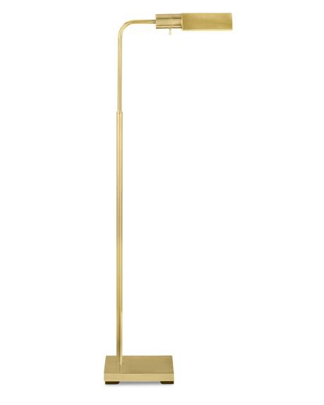Adjustable Floor Lamp Natural Brass Williams Sonoma
