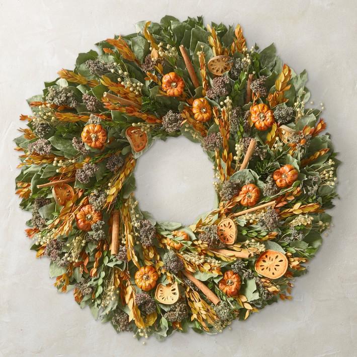 Quince & Cinnamon Stick Wreath