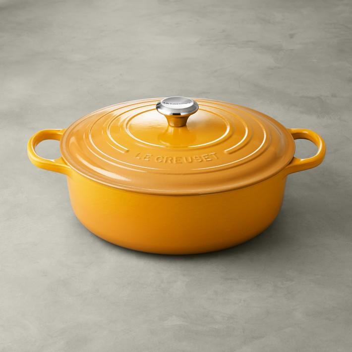 Le Creuset Signature Enameled Cast Iron Round Wide Dutch Oven, 6 3/4-Qt.
