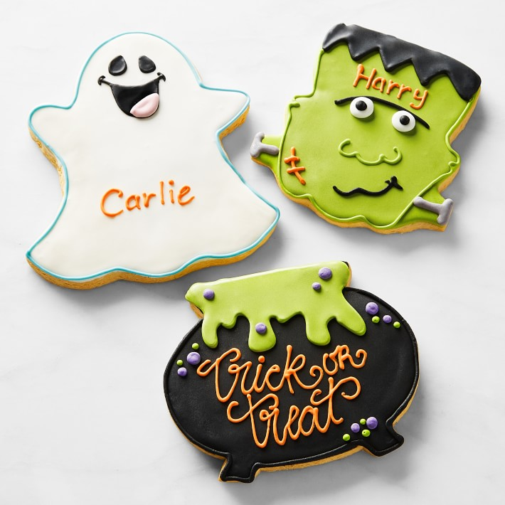 Oversized Personalized Halloween Cookies | Williams Sonoma