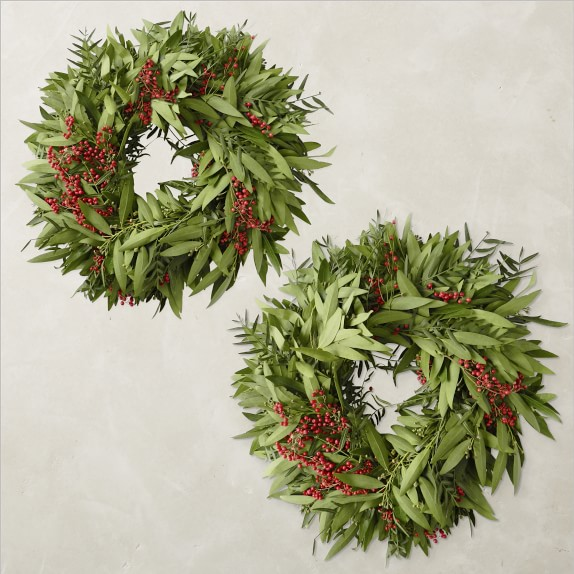 Bay Leaf And Pepperberry Wreath Williams Sonoma