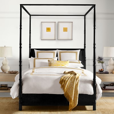 Four Poster Cane Bed Luxury Beds Williams Sonoma