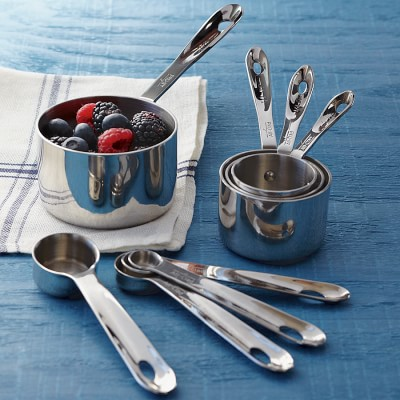 Includes 5 Metal Measuring Cups and 5 Spoons with Engraved Markings Measuring Cups and Spoons Set by Simply Gourmet Premium Set of 10 Stainless Steel Measuring Cups and Spoons