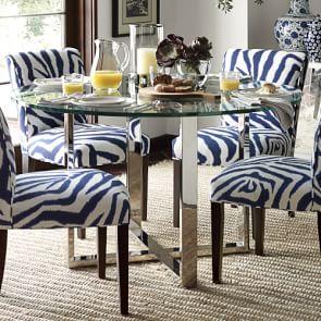 Mercer Rectangular Glass Top Dining Table Williams Sonoma