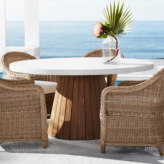 Balboa Outdoor Round Dining Table Williams Sonoma