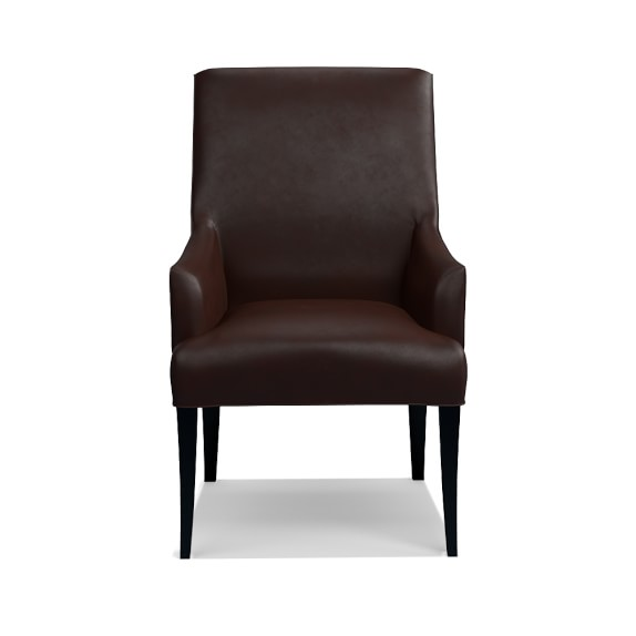 Belvedere Leather Dining Armchair Williams Sonoma