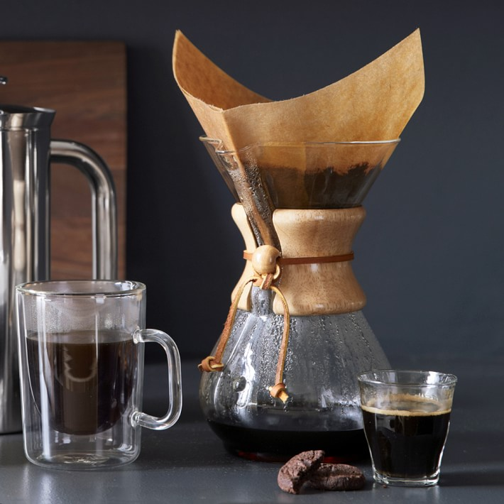 Chemex Pour Over Glass Coffee Maker With Wood Collar Williams Sonoma