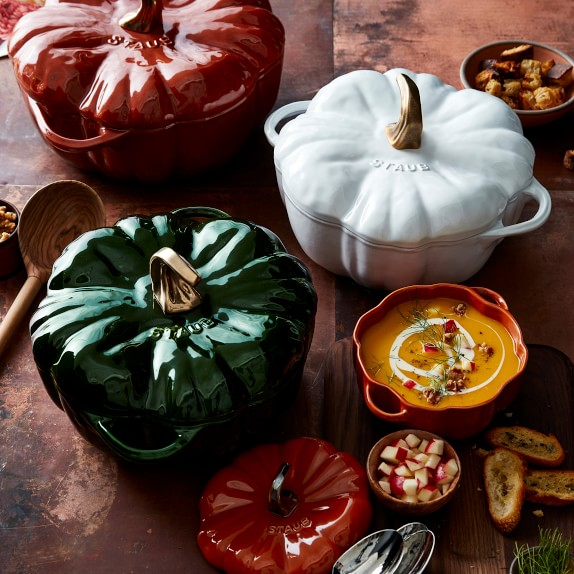 Shop Staub Enameled Cast Iron Pumpkin Cocotte from Williams-Sonoma on Openhaus