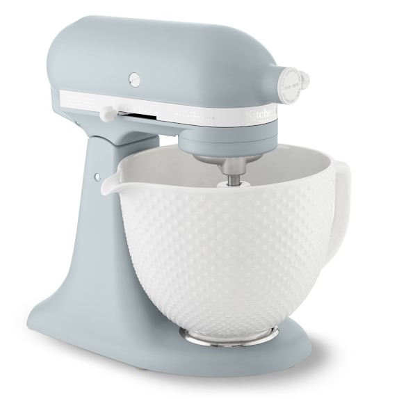 Kitchenaid Limited Edition Heritage Artisan Model K 5 Qt Stand Mixer With Ceramic Hobnail Bowl Williams Sonoma