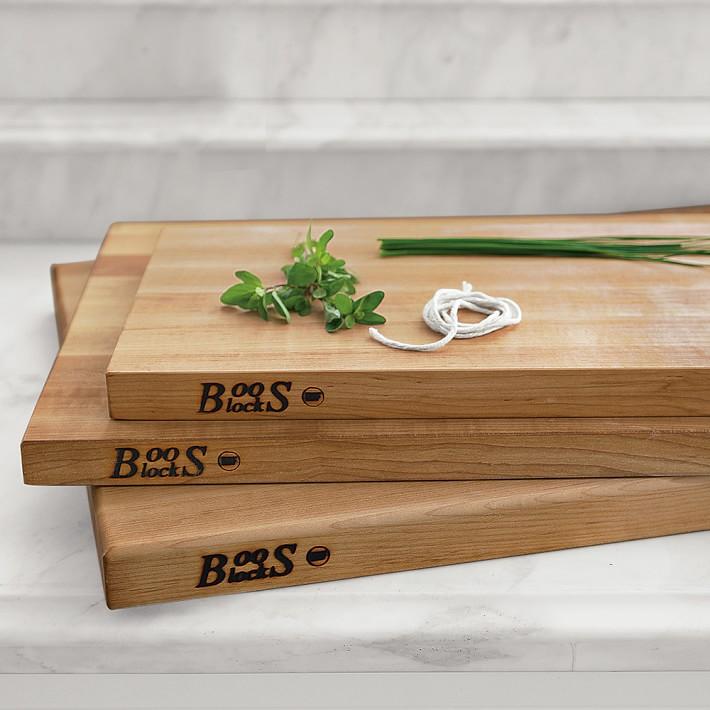 Boos Edge-Grain Rectangular Cutting Board, Maple