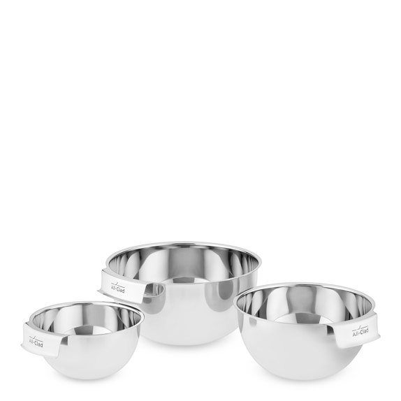 All Clad Stainless Steel 3 Piece Mixing Bowl Set Williams Sonoma