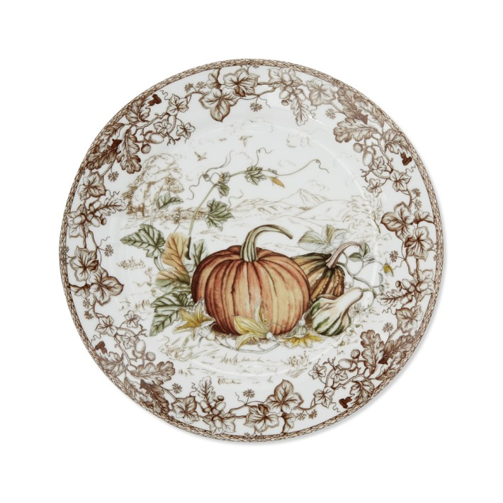 Plymouth Pumpkin Dinner Plates
