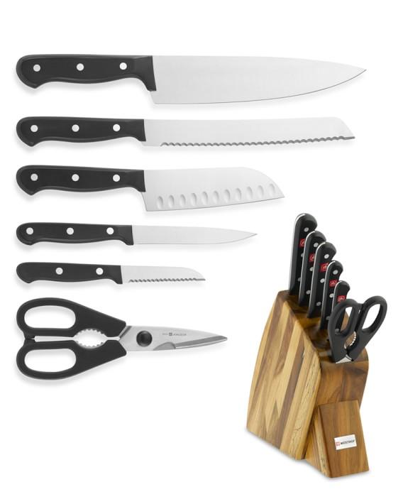 Wusthof Gourmet Large Studio 7 Piece Knife Block Set Williams Sonoma