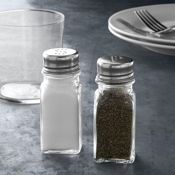 Open Kitchen By Williams Sonoma Glass Salt And Pepper Shakers Williams Sonoma