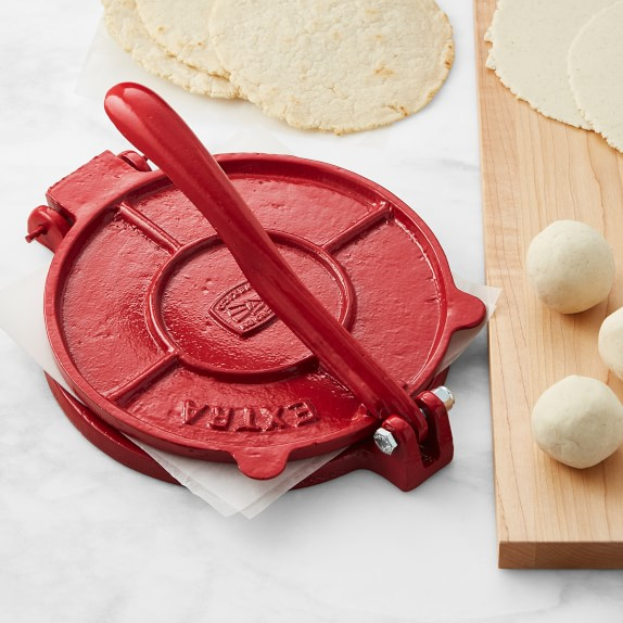 Cast Iron Tortilla Press Red Vegetable Tool Williams Sonoma