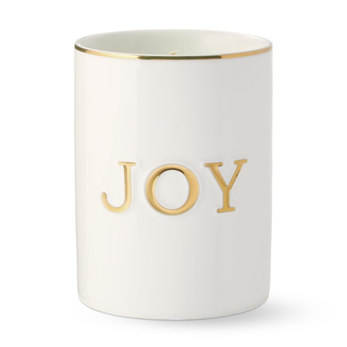 Monogram Candle Peace Love Joy Williams Sonoma