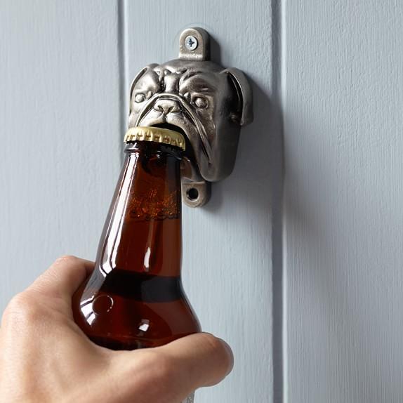 Novelty Bulldog Wall Mounted Bottle Opener Williams Sonoma