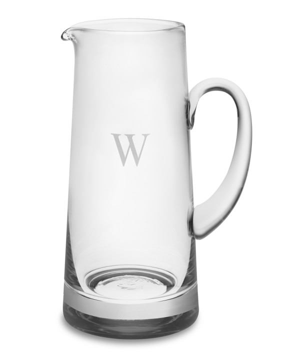 Shop Monogrammed Glass Pitcher from Williams-Sonoma on Openhaus
