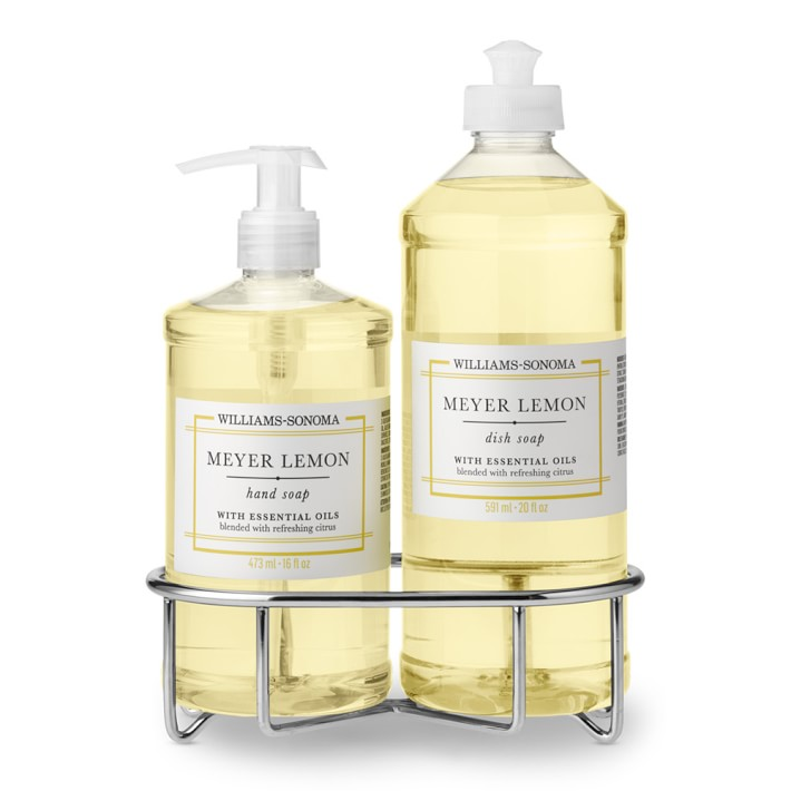 Williams Sonoma Meyer Lemon Hand Soap & Dish Soap, Classic 3-Piece Set