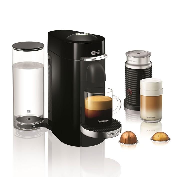 Shop Nespresso VertuoPlus Deluxe Coffee Maker & Espresso Machine by De'Longhi with Aeroccino from Williams-Sonoma on Openhaus