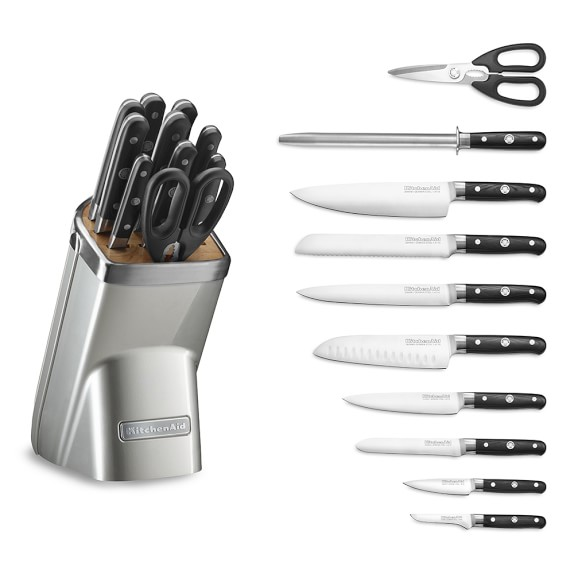 Sugar Pearl Silver Kitchenaid 11 Piece Professional Knife Set Williams Sonoma
