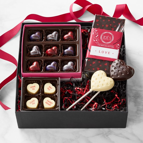 Valentines Day Gift Box Gourmet Chocolate Williams Sonoma