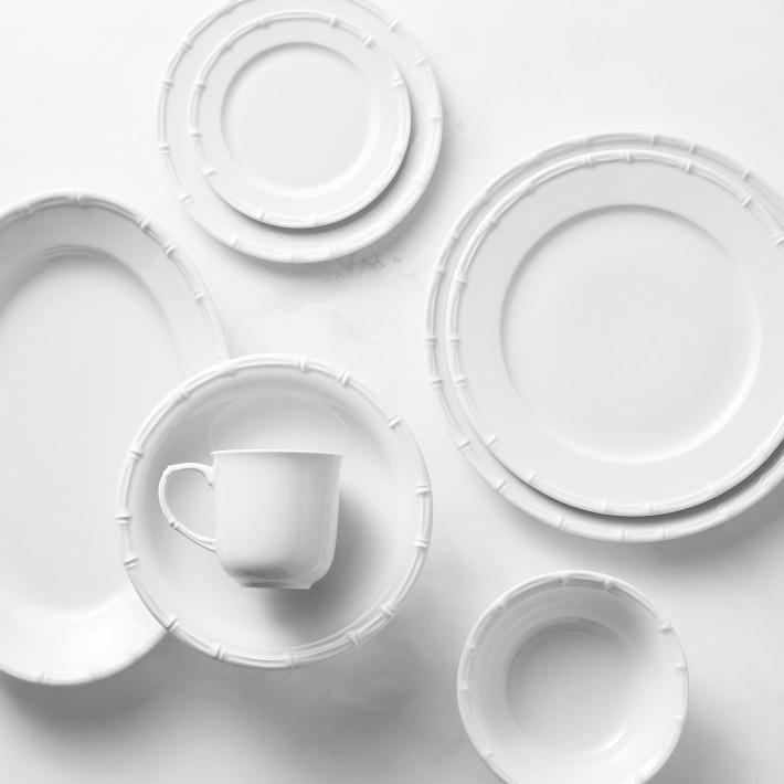 "NEW PILLIVUYT BAMBOO Set of FOUR FRANCE - 8.5"" Salad or Dessert Plates 4"