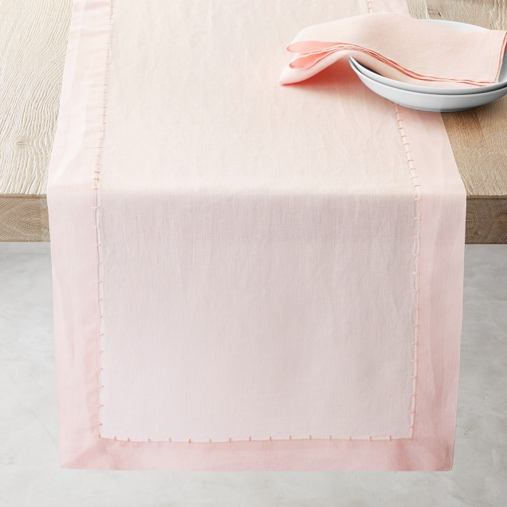 Italian Washed Linen Table Runner Williams Sonoma