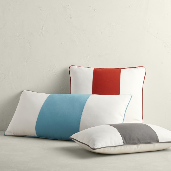 Heat Wave Stripe Outdoor Pillow Cover   Various Sizes
