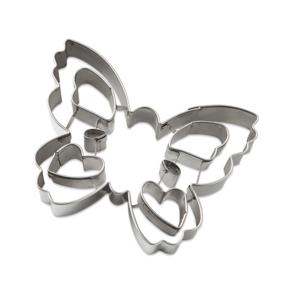 2 BUTTERFLY COOKIE CUTTERS MINIS NEW