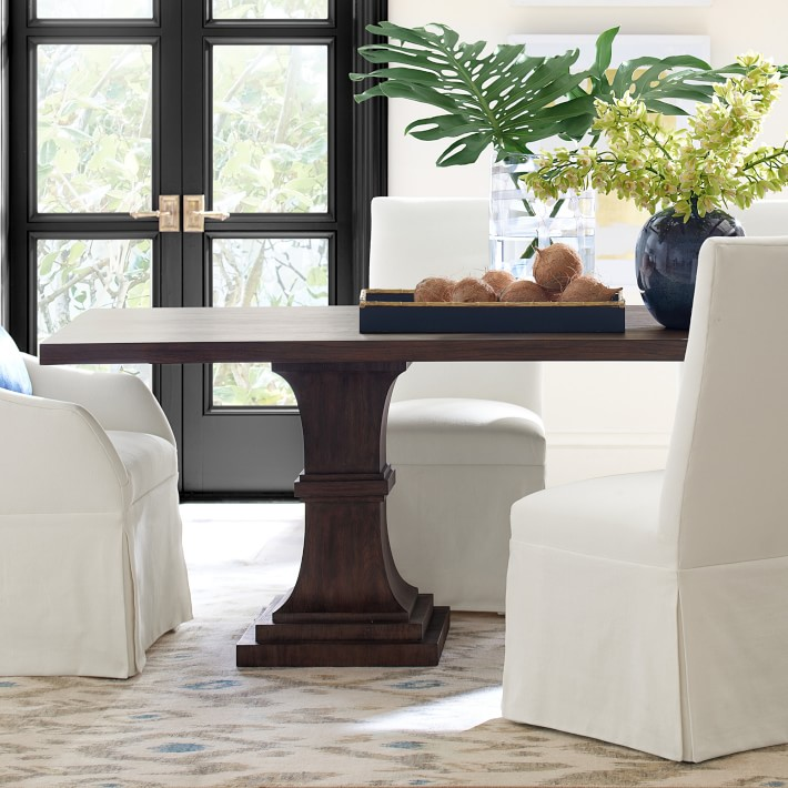 Double Pedestal Rectangular Dining Table Williams Sonoma