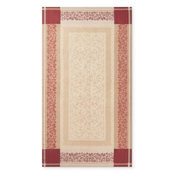 "Williams-Sonoma Acorn Harvest Jacquard Tablecloth 70"" X 126"""
