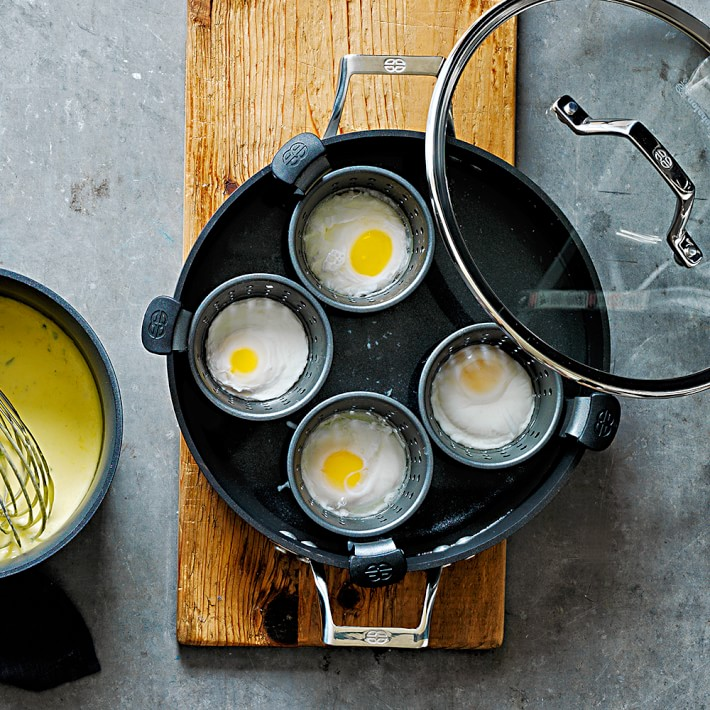4 Cup Non Stick Egg Poacher And Frying Pan Set