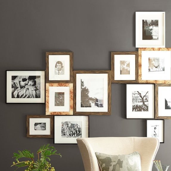 Exotic Burl Wood Gallery Wall Frame Williams Sonoma