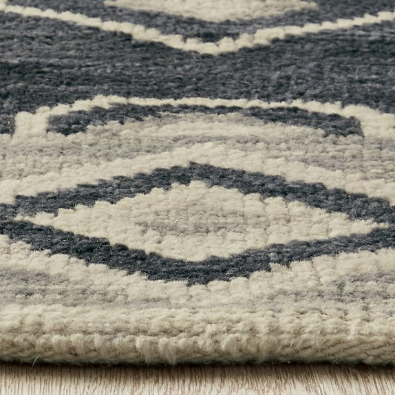 Aldis Hand Knotted Charcoal Silk Rug Williams Sonoma