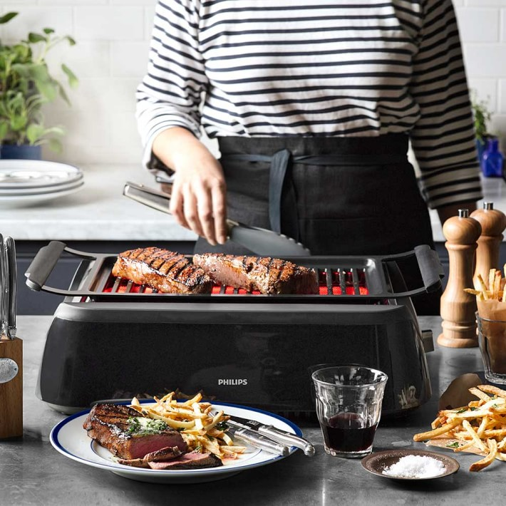 Indoor Smokeless Electric Table Top Grill BBQ Portable Grill Utensils Barbecue