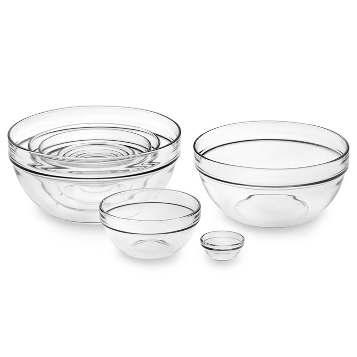 Image of glass mixing bowls