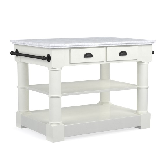 Barrelson Single Marble Top Kitchen Island Williams Sonoma