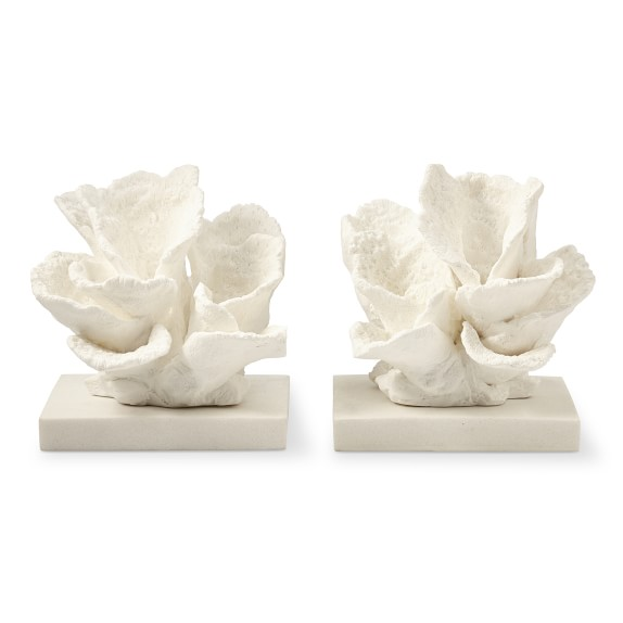 Resin Coral Bookends Decorative Object Williams Sonoma