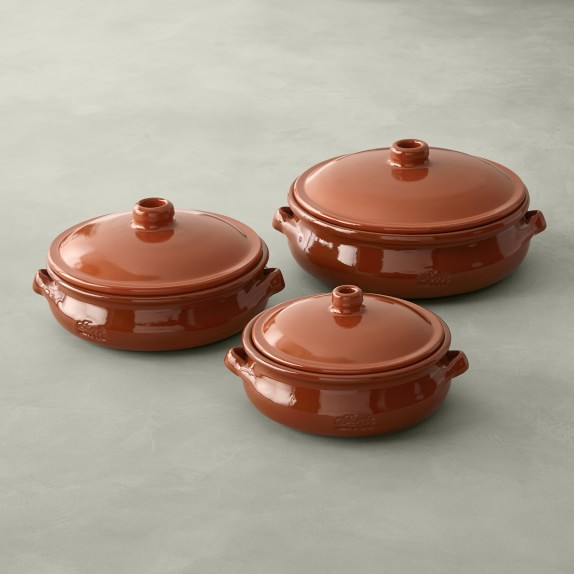 clay pot cooking williams sonoma Williams Sonoma Traditional Terracotta Casserole Pans - Set of 2